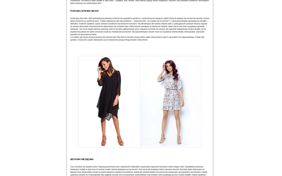 MOLLY – artykuł o modzie w stylu boho