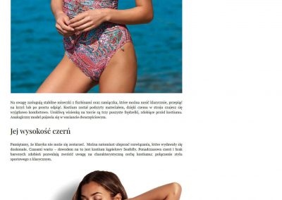 Bodylook – artykuł promujący stroje kąpielowe