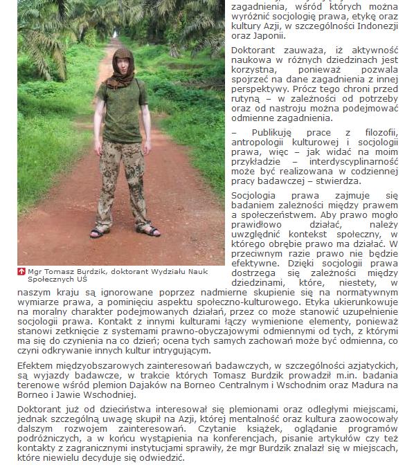 """""""Interdyscyplinarność na co dzień""""  – artykuł dla miesięcznika """"Gazeta Uniwersytecka UŚ"""""""